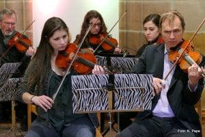 Probe im Orchester JBB, Leitung Stefan Poetzsch, Geigenunterricht, Bratschenunterricht, Cellounterricht, MusiCeum