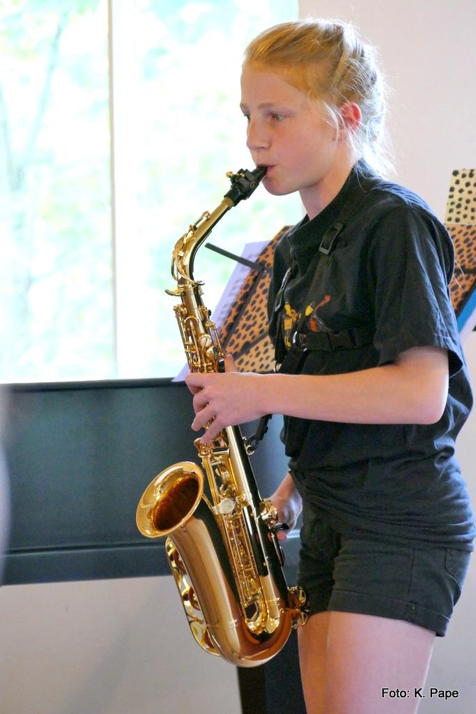 Saxophonschülerin