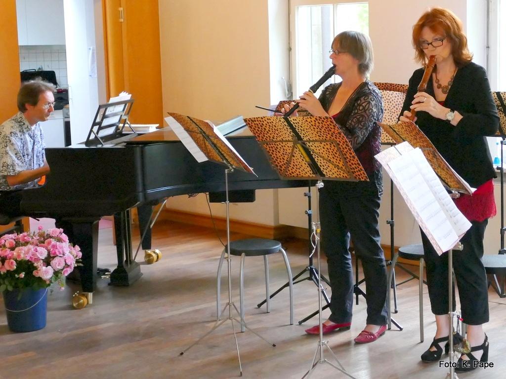 Triosonate mit 2 Blockflöten u Klavier, Jens Kaiser, Julie Mildenberger, Anne Pape