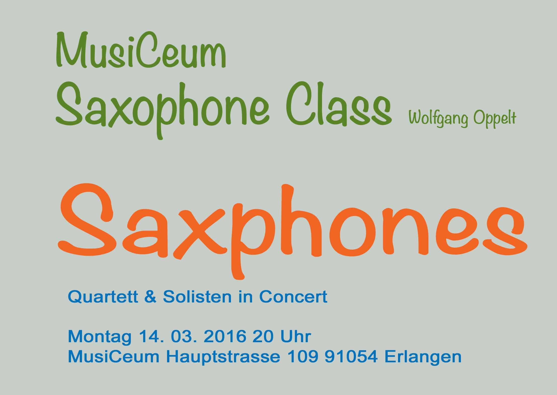 Schülervorspiel Saxophonklasse MusiCeum