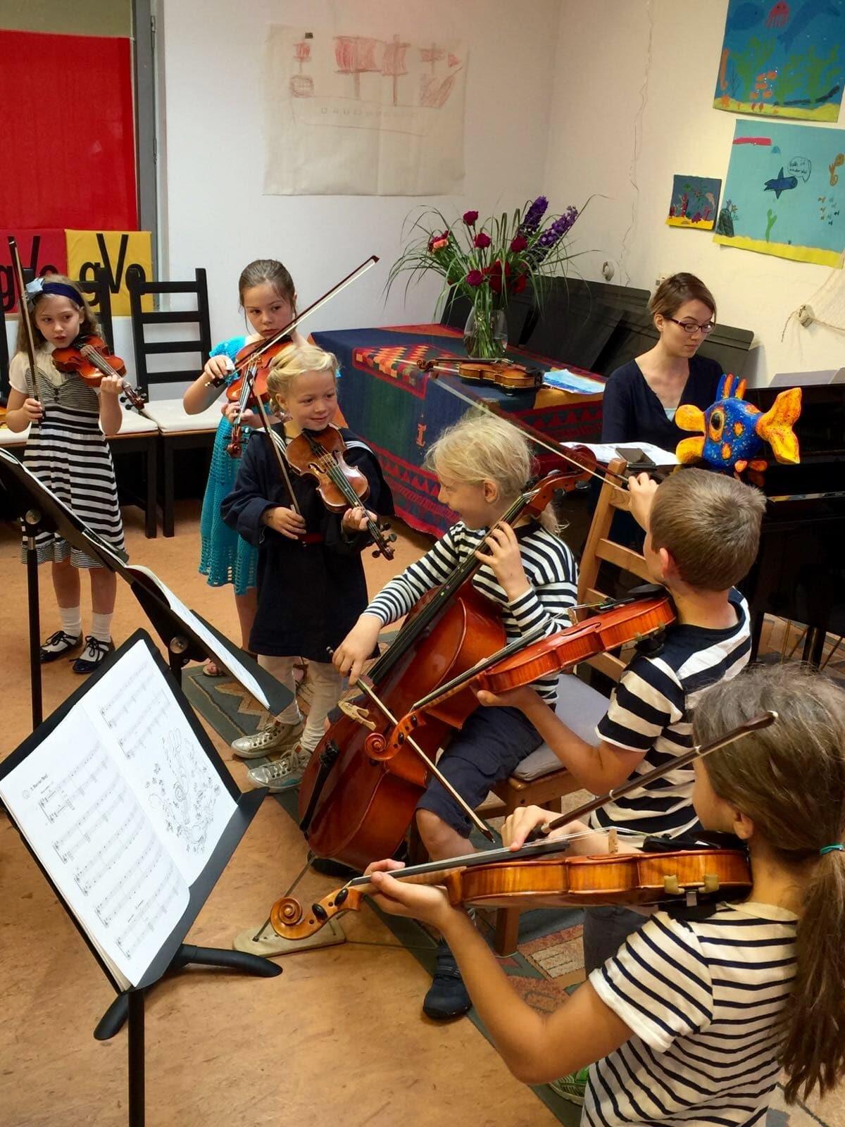 Kinderorchester Geigenunterricht Cellounterricht MusiCeum Violine Geige