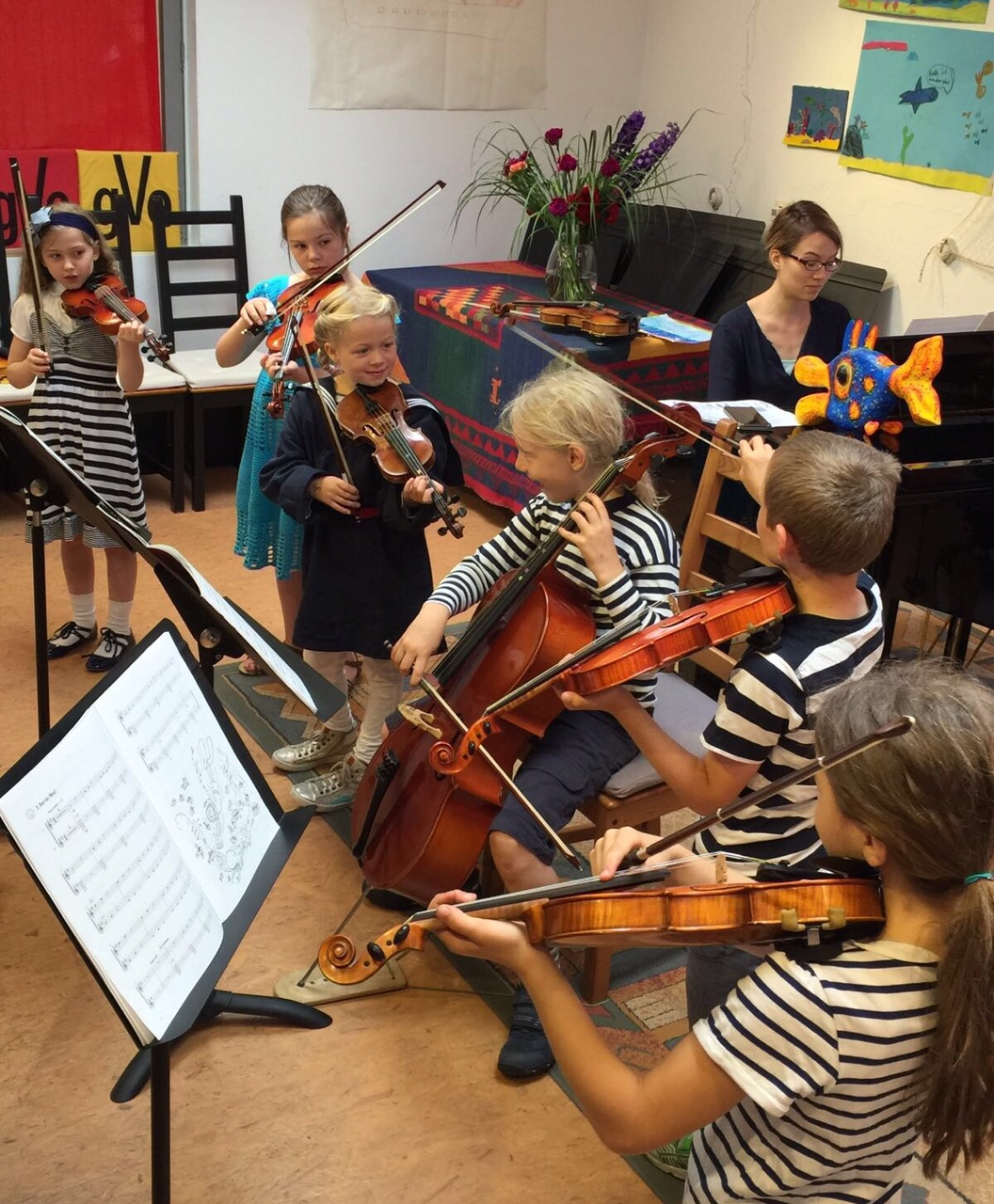Probe im Kinderorchester