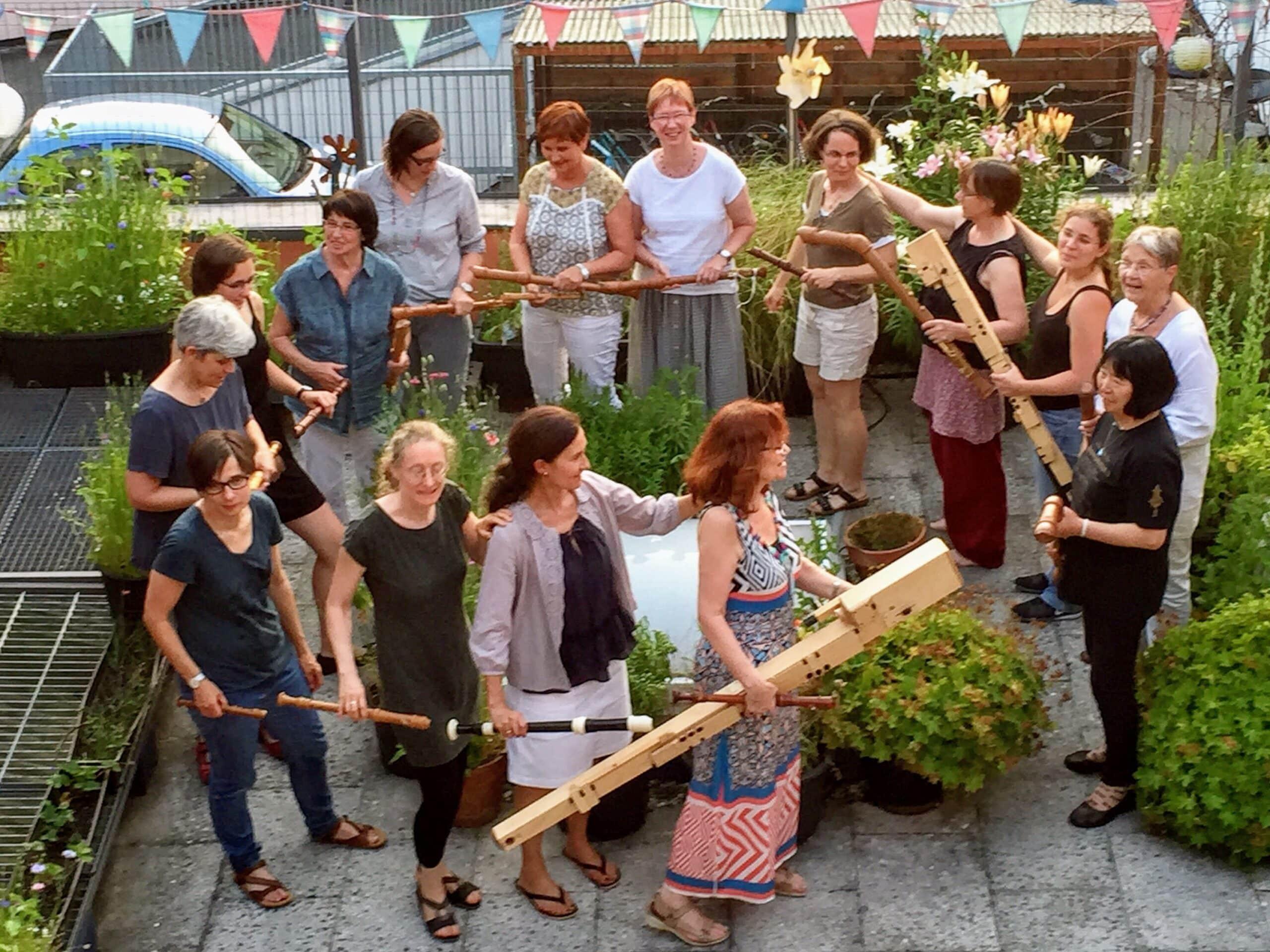 Das Erlanger Blockflötenorchester EBO mit Besuch aus Japan