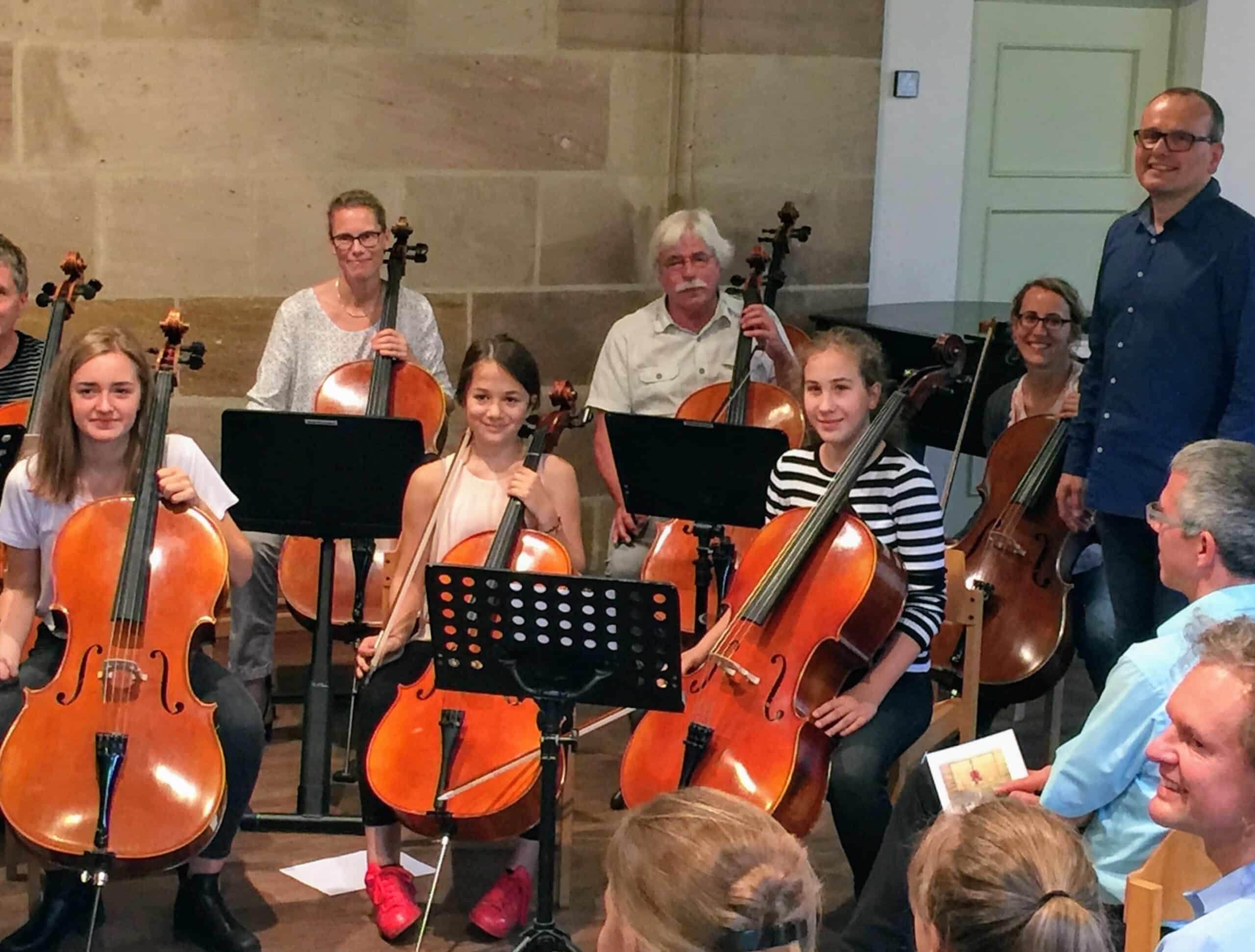 Celloklasse J. Hahn (Ausschnitt)