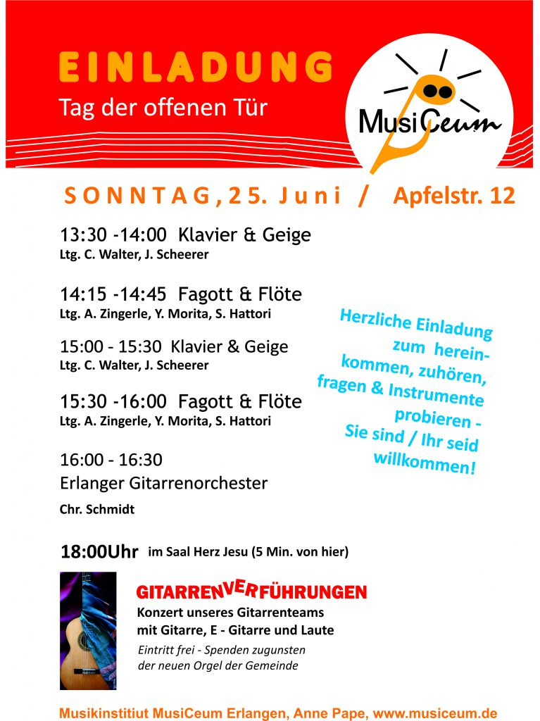 Programm des MusiCeums am 25.06.2017