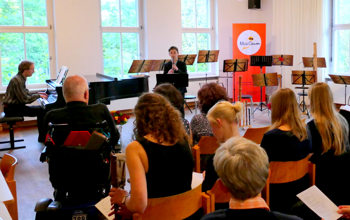 MusiCeum Konzert Blockflötenklasse Anne Pape